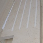 Pencil round bullnose on edge and etched anti-slip grooves