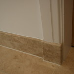 Arrised bullnose edges on skirting